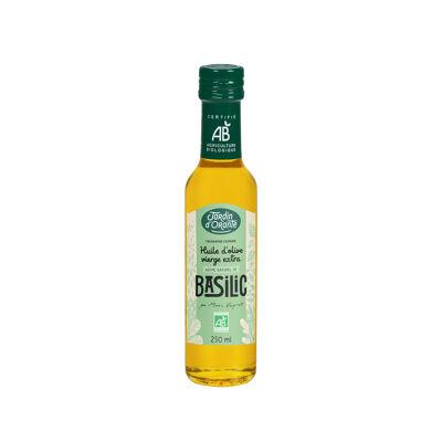 Huile d'olive vierge extra bio recette basilic 25cl (Jardin d'orante)