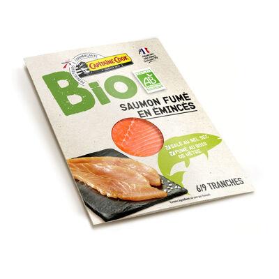 Emincés de saumon fumé bio - 6 à 9 tranches - 100 g (Capitaine cook)