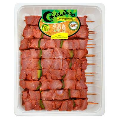 18 brochettes de dinde a l'orientale 140g halal sat cp (Halal)
