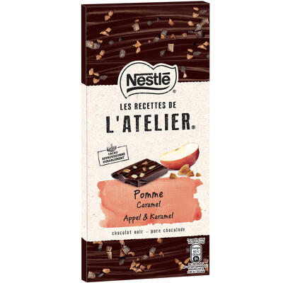 Nestle l'atelier chocolat noir, pomme caramel 115g (Les recettes de l'atelier)