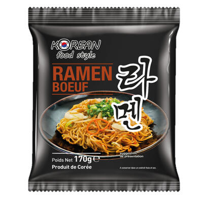 Nouilles ramen sachet boeuf korean food style 170g par 12 (Korean food style)