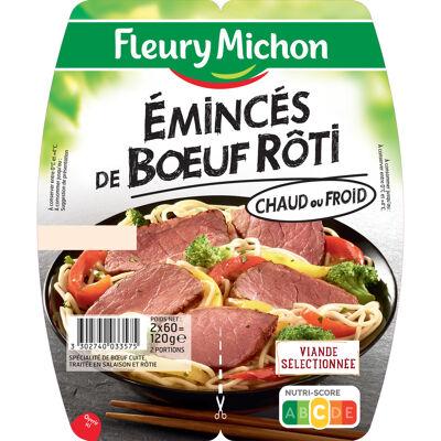Eminces de boeuf roti 2 x 60 g (Fleury michon)