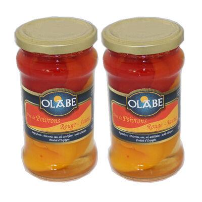 Poivron duo rouge et jaune olabe boc 314 ml lot x 2 (Olabe)