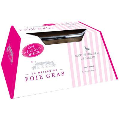 Bloc de foie grad de canard ue lingot 300g + lyre (La maison du foie gras)