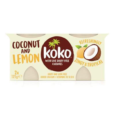 Dessert végétal à base de lait de noix de coco coco & citron 2x125g (Koko dairy free)