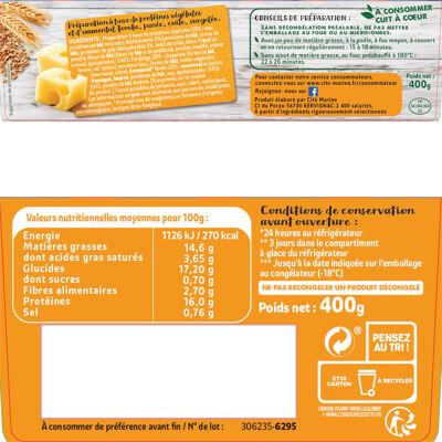Croq'veggie de blé à l'emmental - 400g - surgelés (Mon repas végétal)