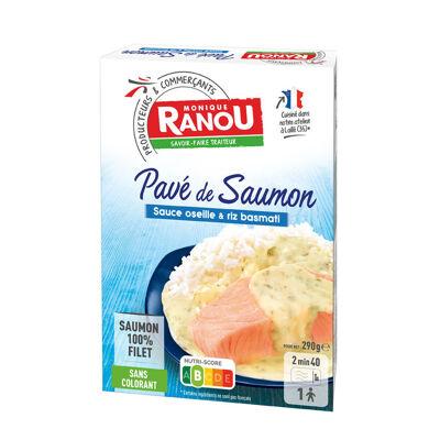 Saumon sauce à l'oseille et duo de riz (Monique ranou)