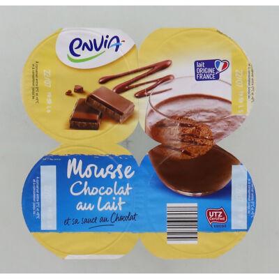Mousses chocolat au lait avec coulis (Envia)