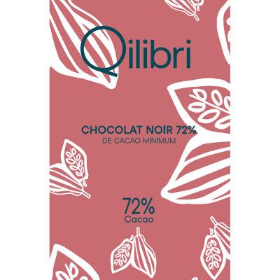 Chocolat noir 72% de cacao minimum (Qilibri)