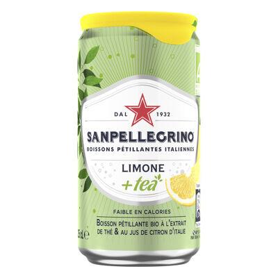 San pellegrino+tea boisson pétillante bioà l'extrait de thé et au jus de citron d'italie25cl can (Sanpellegrino)