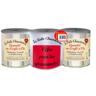 Cassoulet au confit d'oie 840 g - lot de 3 dont 1 offerte (La belle chaurienne)
