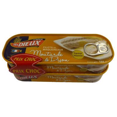 Lot de 2x1/4 filets de maquereaux moutarde prix choc (Le tresor des dieux)
