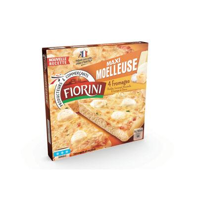 Pizza garnie de cheddar, d'emmental, de mozzarella et de fromage de chèvre - surgelée (Fiorini)