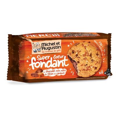 Super coeur fondant aux noix de pécan, caramel et chocolat noir 180g (Michel et augustin)
