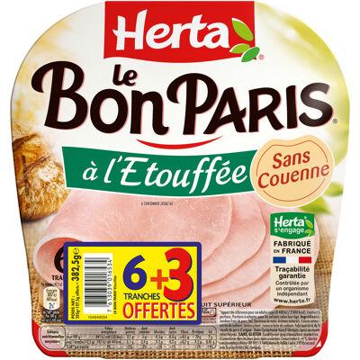 Herta le bon paris jambon à l'étouffée x6 + 3t offertes (Herta)