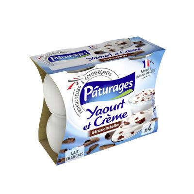 Yaourt au lait entier sucré aux copeaux de chocolat - stracciatella (Paturages)