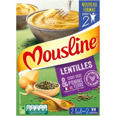 Mousline purée lentilles curry 2x65g (Mousline)