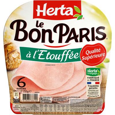 Herta le bon paris jambon à l'étouffée x6 -255g (Herta)