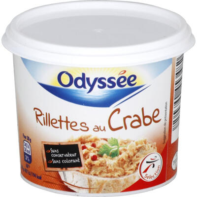 Rillettes au crabe-tourteau (Odyssee)