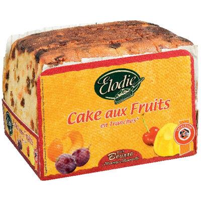 Cake aux fruits confits et aux raisins macérés en tranches, pur beurre (Chabrior)