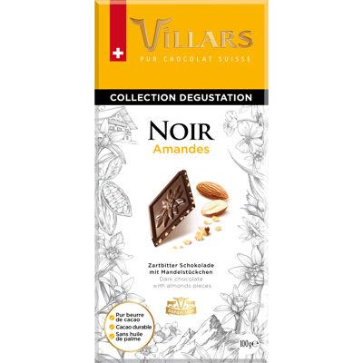 Chocolat noir aux éclats d'amandes caramélisées (Villars)