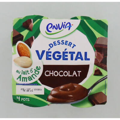 Dessert végétal au lait d'amande au chocolat (Envia)