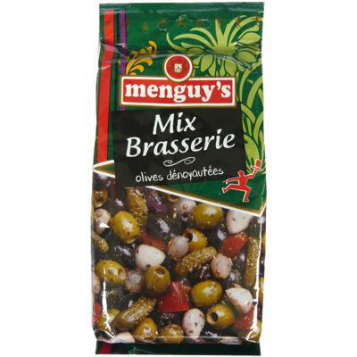 Mix brasserie olives dénoyautées 200 g (Menguy's)