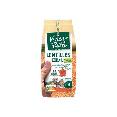 Lentilles corail de nos agriculteurs sachet 500g (Vivien paille)