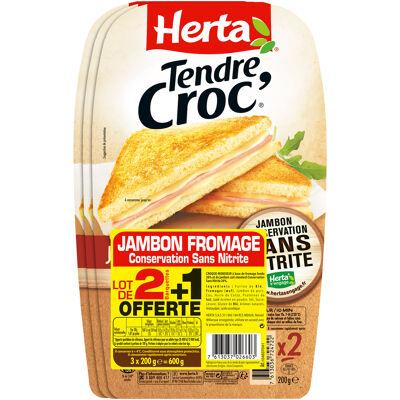 Herta croque-monsieur jbon conserssnitrite from 2+1offt-600g (Herta)
