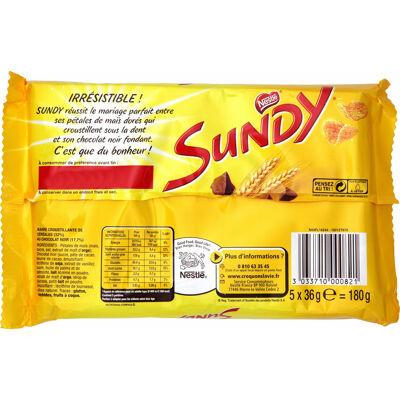 Sundy barres chocolatées 5x36g (Sundy)