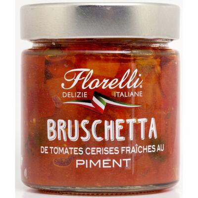 Bruschetta de tomates cerises fraiches au piment 190g (Florelli)