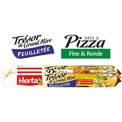 Herta tresor de grand mere pâte feuilletée et pizza 2+1 825g (Herta)
