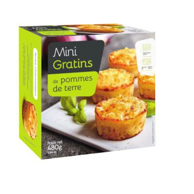 Mini-gratins de pommes de terre - 480g - surgelés (No name)