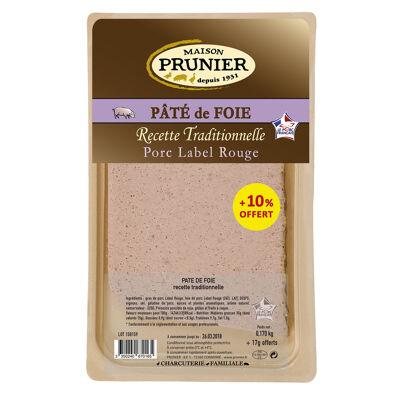 Pâté de foie, recette traditionnelle +10% offert (Prunier)