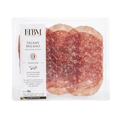 Salame milano – saucisson italien - 100g - ltbm (Les toques blanches du monde)