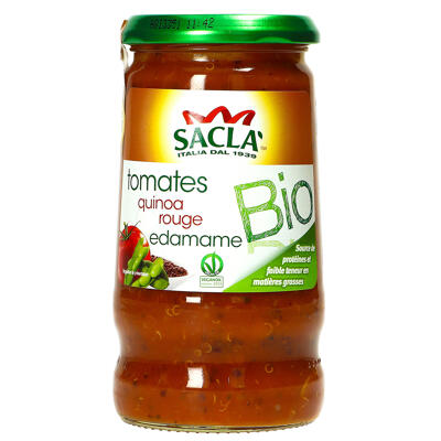 Sacla - sauce tomates, quinoa rouge & edamame bio - 345 gr (Sacla)