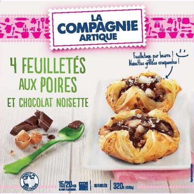 4 feuilletés aux poires et chocolat noisettes 4 x 80g (La compagnie artique)