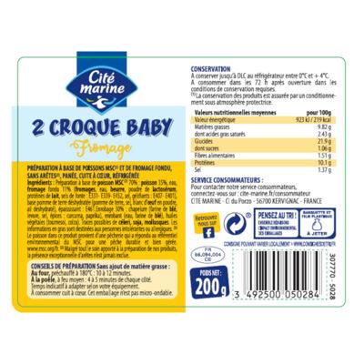 Croque baby fromage - 200g - frais (Cité marine)