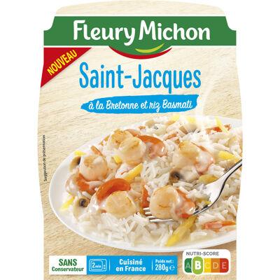 Saint jacques à la bretonne et riz basmati (Fleury michon)