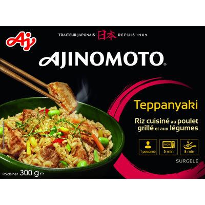 Ajinomoto - teppanyaki 300 g - riz cuisine au poulet grille et aux légumes- portion individuelle (Ajinomoto)
