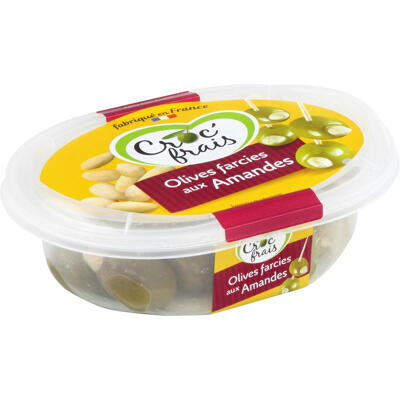 Olives farcies aux amandes 200 g (Croc'frais)