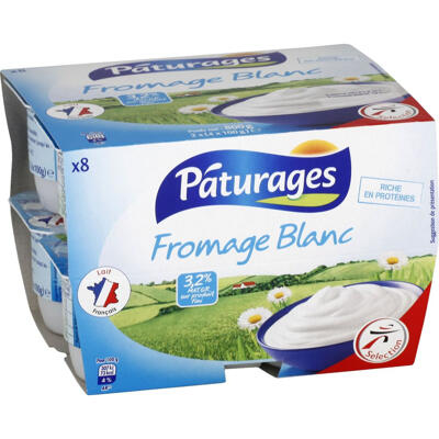 Fromage blanc 3,2% % mg (Paturages)