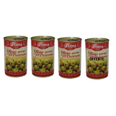 La ciota olives farcies poivron bte 120 g lot x 3 + 1 offerte (La ciota)
