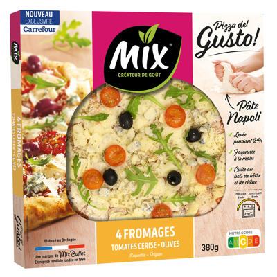 Pizza del gusto 4 fromages (vegggie) 380g crf (Mix buffet)