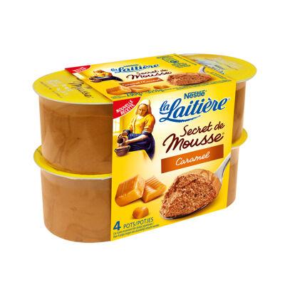 La laitiere secret de mousse caramel au beurre sale 4x59g (La laitiere)