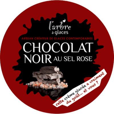 Crème glacée chocolat noir, sel rose de l'himalaya (L'arbre à glaces)