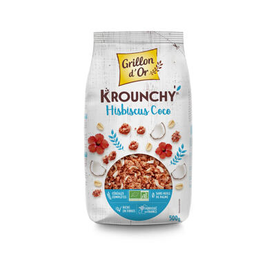 Krounchy hibiscus coco 500g go ab* (Grillon d'or)