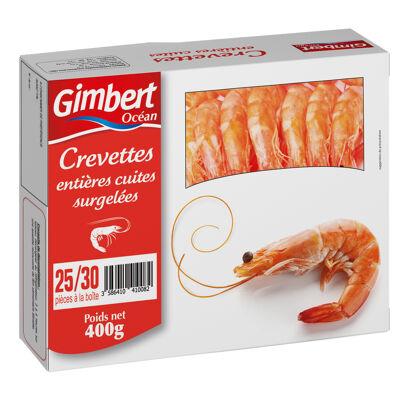 Crevettes entieres cuites 400g (Gimbert ocean)