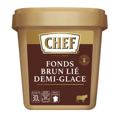 Fonds brun lié demi-glace chef boîte de 900 g pour 15 l à 30 l (Chef)