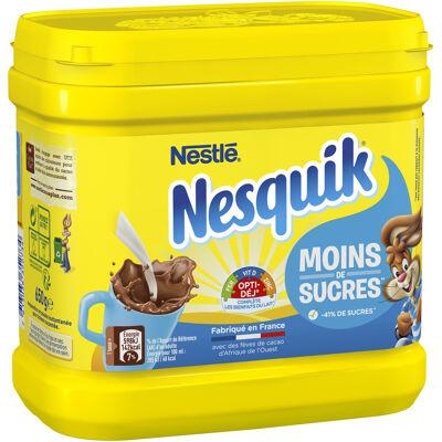 Nesquik moins de sucres poudre cacaotée boîte 650g (Nesquik)